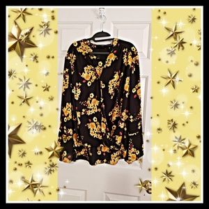 🏷🌻Chic Floral Print Wrap Blouse by INC